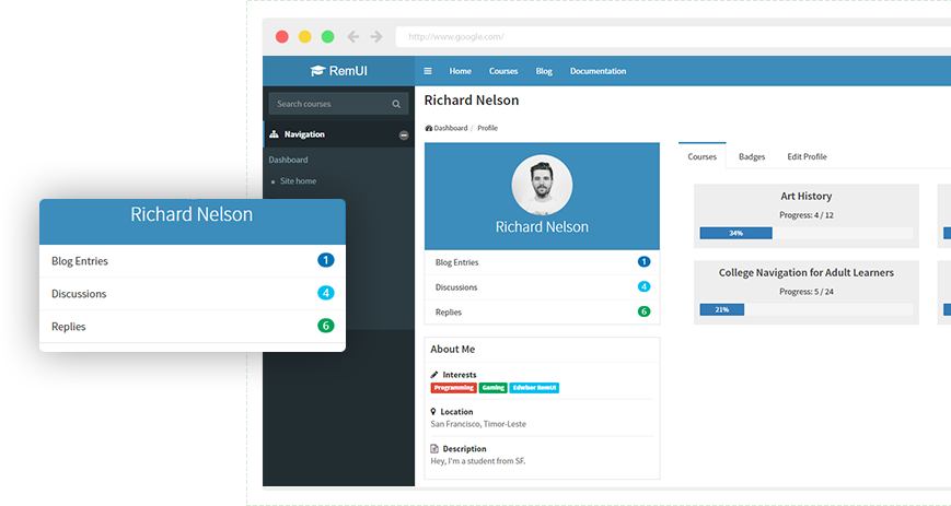 edwiser-remui-user-profile