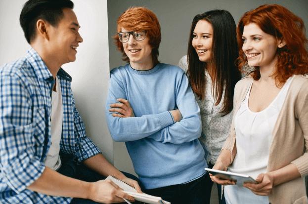 random-students-talking