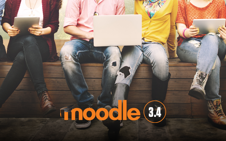 Moodle 3.4 is here and we're looking at all the Possibilities!