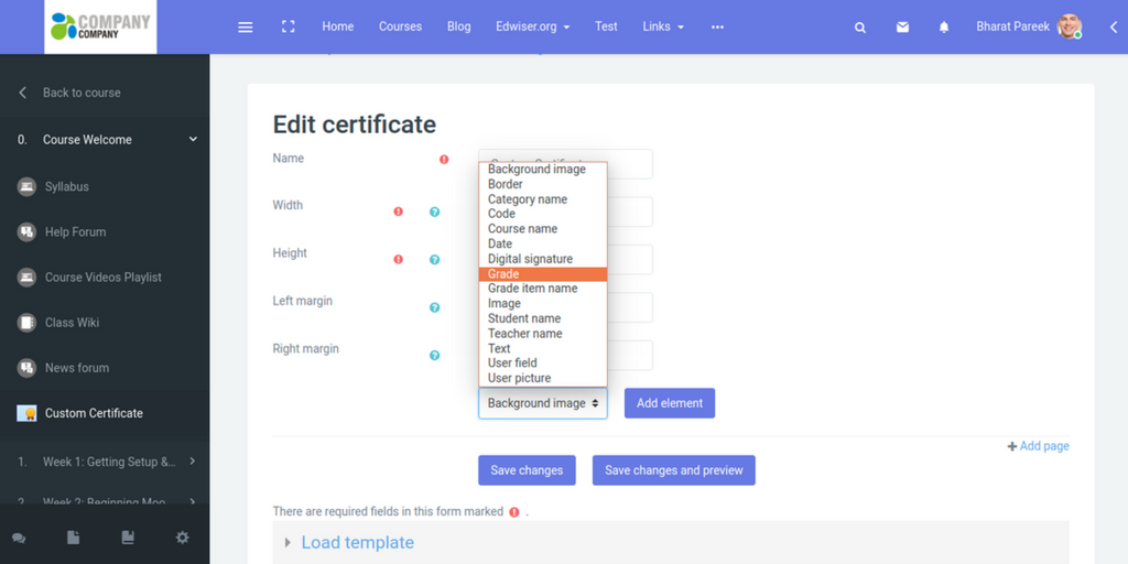 All You Need To Know About Moodle Plugin Custom Certificate Edwiser