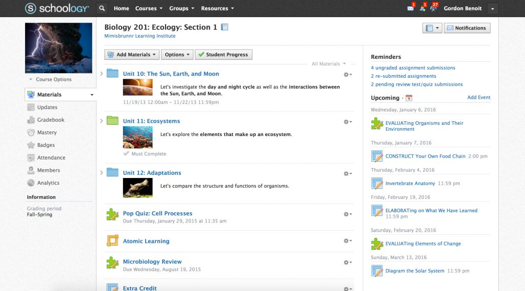 schoology course creator