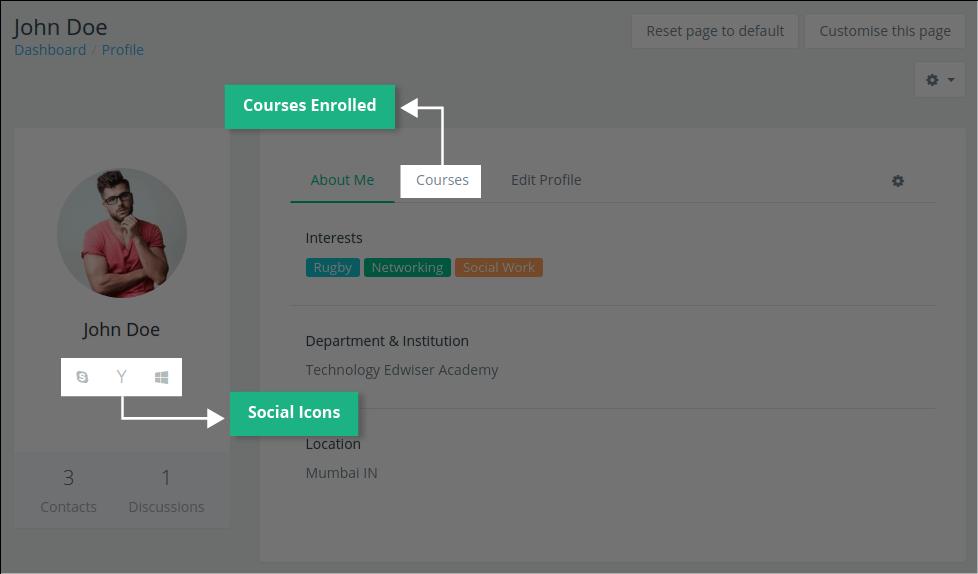 Edwiser RemUI Profile Page