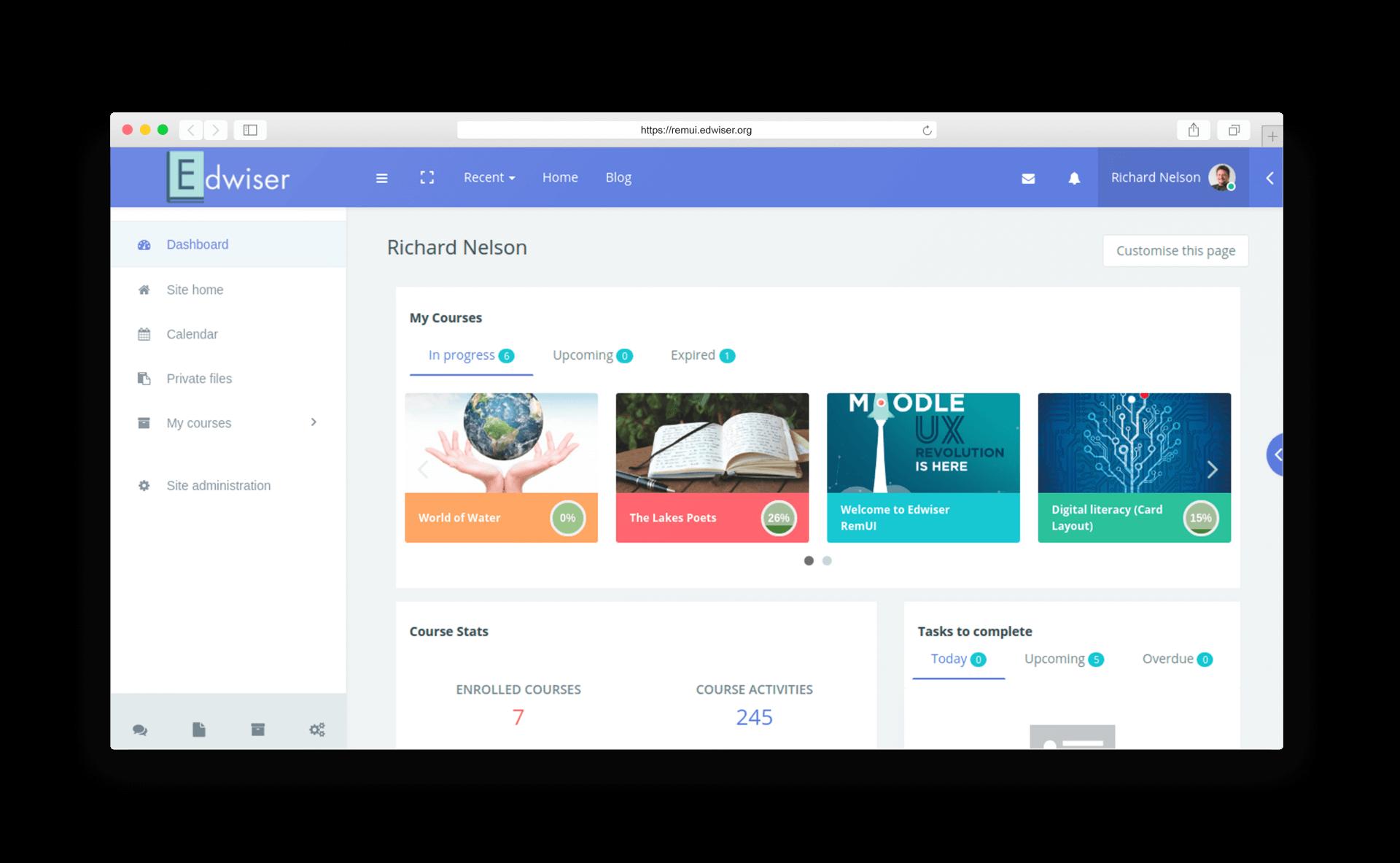 Edwiser RemUI Dashboard