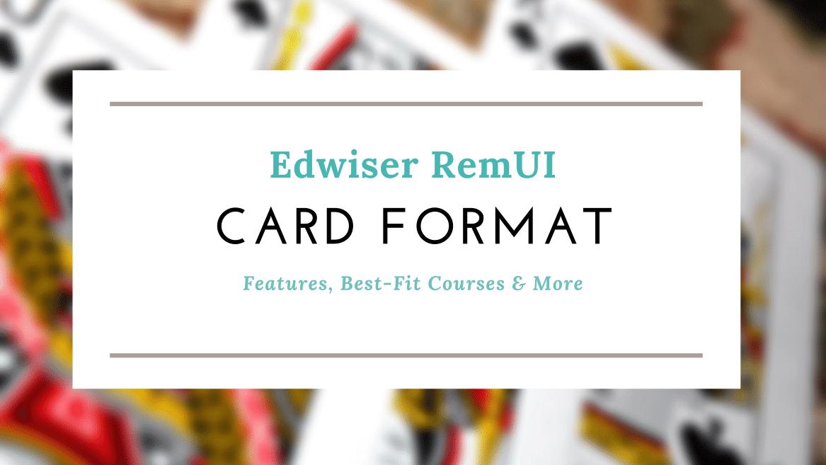 Edwiser RemUI Card Format for Moodle