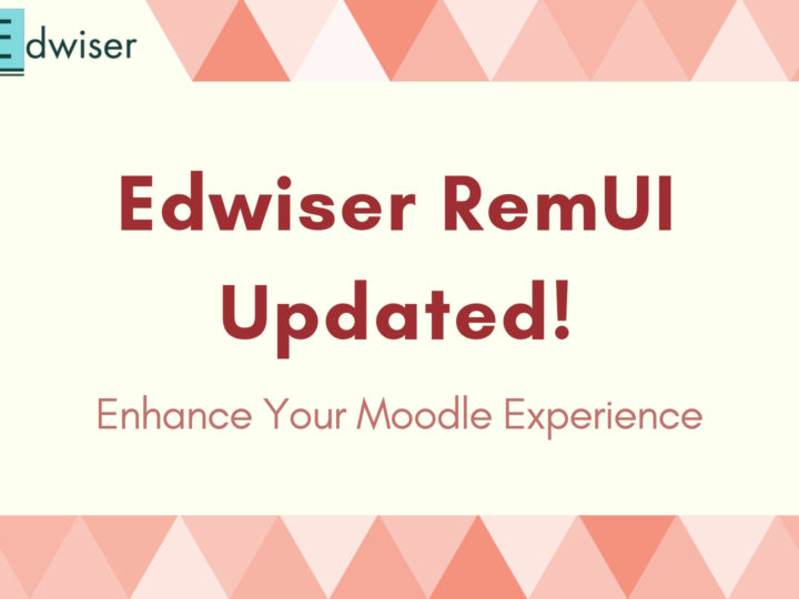 Your Favorite Moodle Theme Edwiser RemUI Updated!