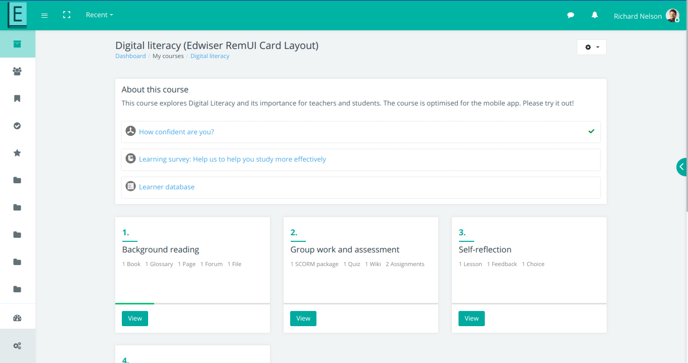 Edwiser Course Formats - Edwiser