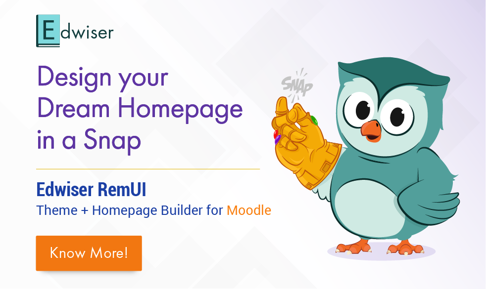 Edwiser RemUI Homepage Builder for Moodle