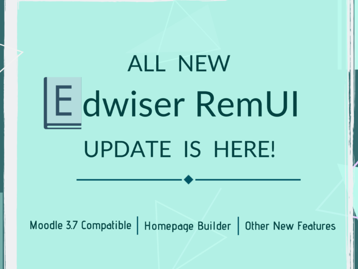 Moodle 3.7 Compatible Edwiser RemUI With Homepage Builder