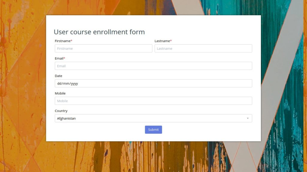 Edwiser Forms for Moodle Updated