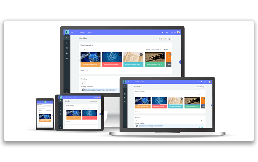 Edwiser RemUI - Beautiful theme for Moodle across any device