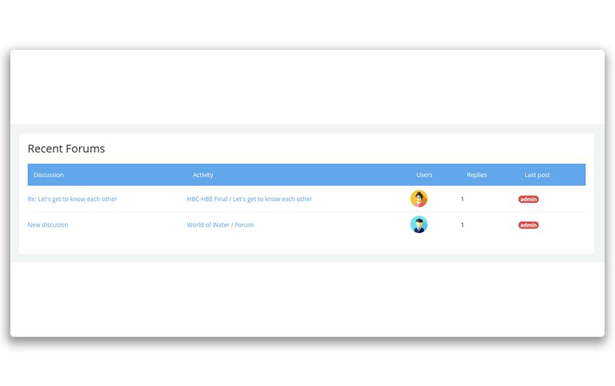 Recent Feedback block as part of Edwiser RemUI