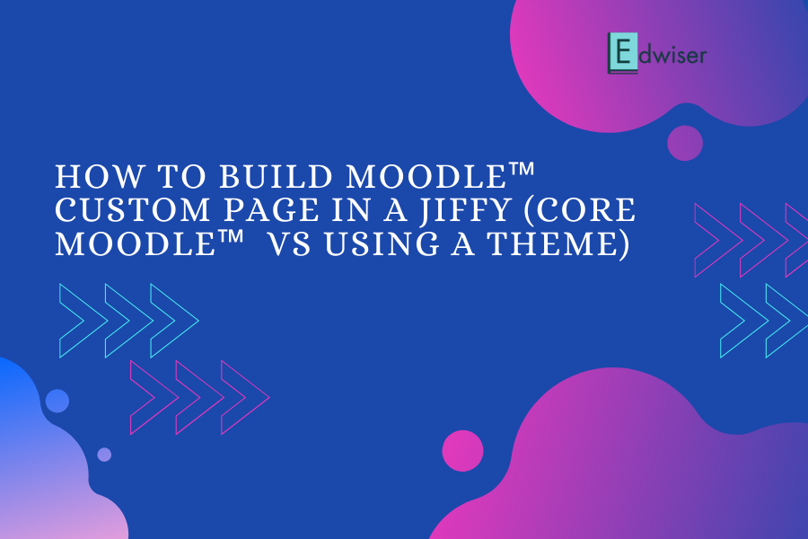 How to build a Moodle™ Custom Page in a Jiffy (Core Moodle™ vs using a Theme)